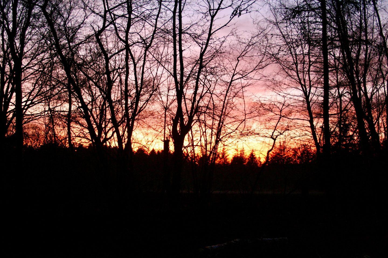 Smukkeste, røde solnedgang.