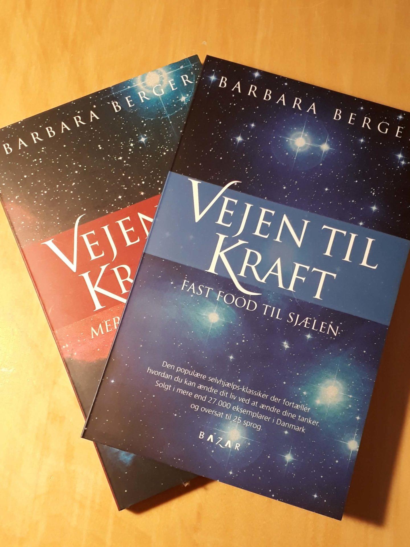 Babara Berger og hendes bøger 'Vejen til kraft'.