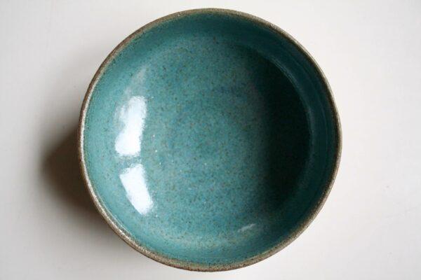 Røgelseskar #2, grønligt, lavet af keramiker Marguerite Johnsen