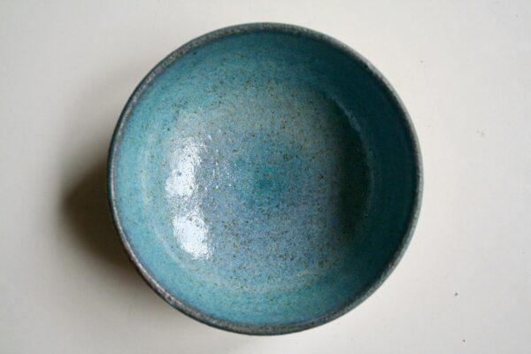 Røgelseskar #3, grøn-blåligt, lavet af keramiker Marguerite Johnsen
