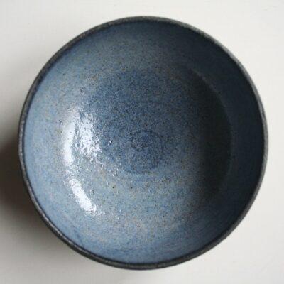 Røgelseskar #4, blåt, lavet af keramiker Marguerite Johnsen